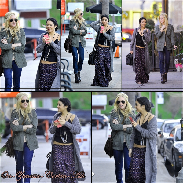 Vanessa - February 28, 2011  Shopping at Bed, Bath and Beyond then Having dinner with Brittany Snow !