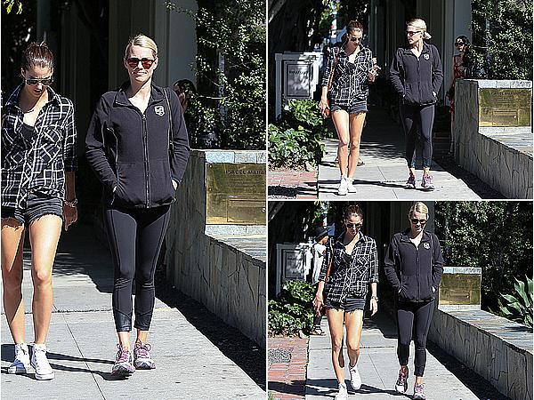 24/03/15 - Claire a été aperçue se promenant avec sa cousine Stacey Kenealy, à West Hollywood.  Si l'on en juge la tenue, Claire sortait de la salle de sport. C'est cool de la voir passer autant de temps avec la belle Stacey.