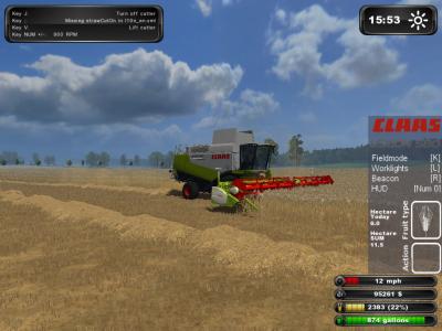 Moisson dans Landwirscahft Simulator 2011 - Suite