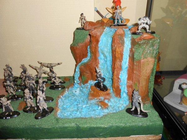 D cor pour figurines 7 cm de haut le tout fait mains for Dragon ball z decorations
