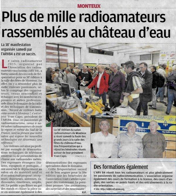 Salon Radioamateur de MONTEUX le Samedi 7 Novembre 2015