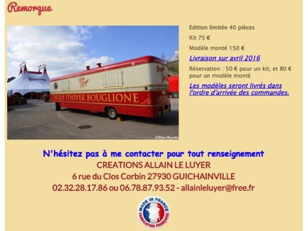 UN WE EXTRA (2): 6ème Salon de la Maquette de Cirque au Cirque d'Hiver Bouglione (26-28 Février 2016)
