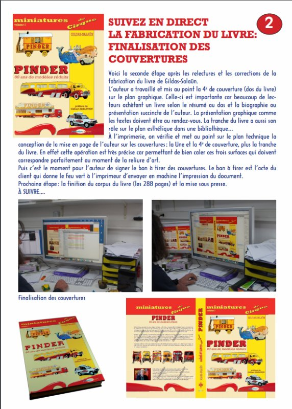 MINIATURES DE CIRQUE: FABRICATION DU LIVRE