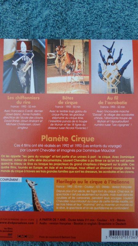 """DVD """"PLANETE CIRQUE"""""""
