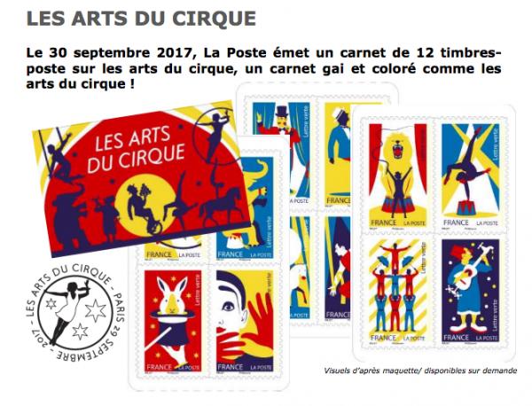 LES ARTS DU CIRQUE - EMMISSION D'UNE SERIE DE TIMBRES