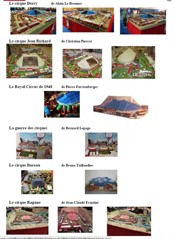 LISTE DES EXPOSANTS du 8e SALON DE LA MAQUETTE DE CIRQUE