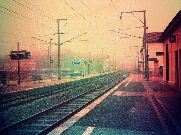 ~ Une gare est le plus bel endroit pour des retrouvailles, parce que c'est normalement le lieu des séparations. En se retrouvant dans une gare, on a l'impression de conjurer le mauvais sort ~