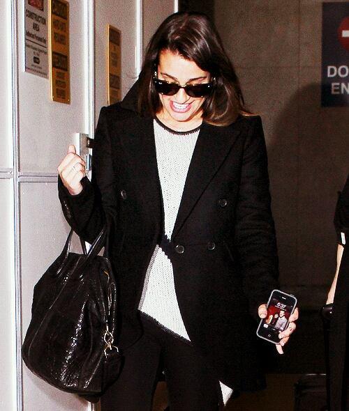 Lea Michele back in town