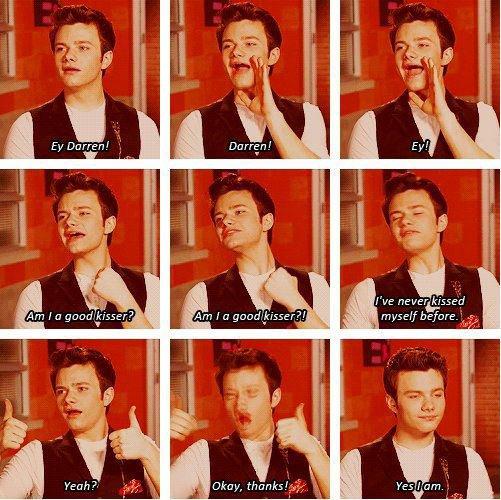 Chris qui veut savoir si il embrasse bien Lol =)
