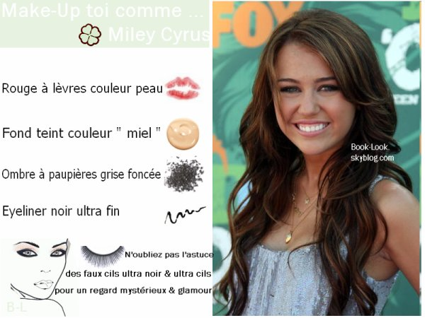 Make Up toi comme ______________________________________________________________________  +Miley Cyrus