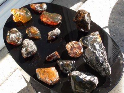 LOT 3 : vente blocs ambres Dominician et Mexicain (Chiapas) 650 ¤