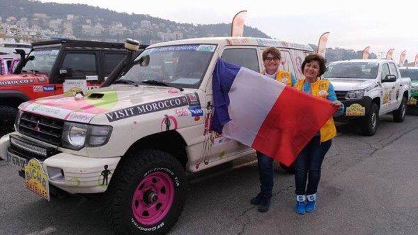 Ma Gazelle Delphine avec une Amie de l'équipage 149 au départ du Rallye Aîcha des Gazelles 2017 à Nice !!!!!!!