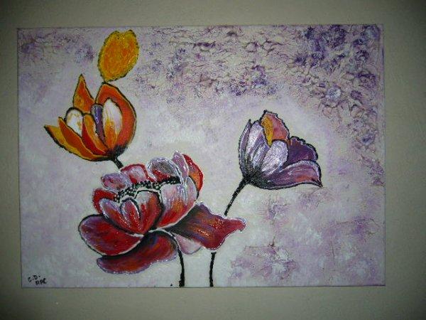 Peinture abstrait 50 70 cm parfum violette blog de for Peinture violette