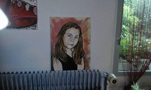 Pas terminé portrait peinture a/3