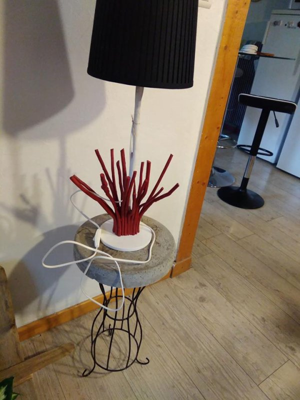 lampe d'ambiance bois flotté ...