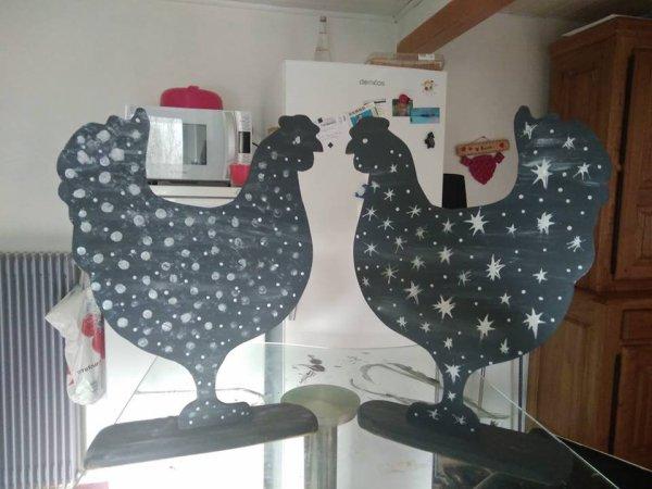 Les poules decorations fantaisie d'intérieur. –
