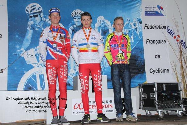 Championnat Régional de Cyclo-cross Saint Jean D'Angély le 07.12.2014 (toutes catégories)