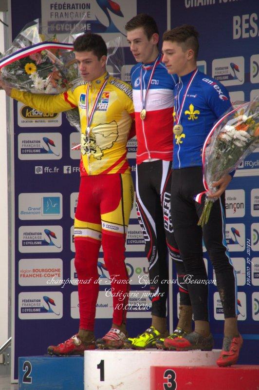 Championnat de France Cyclo cross catégorie Juniors Besançon 10.01.2016