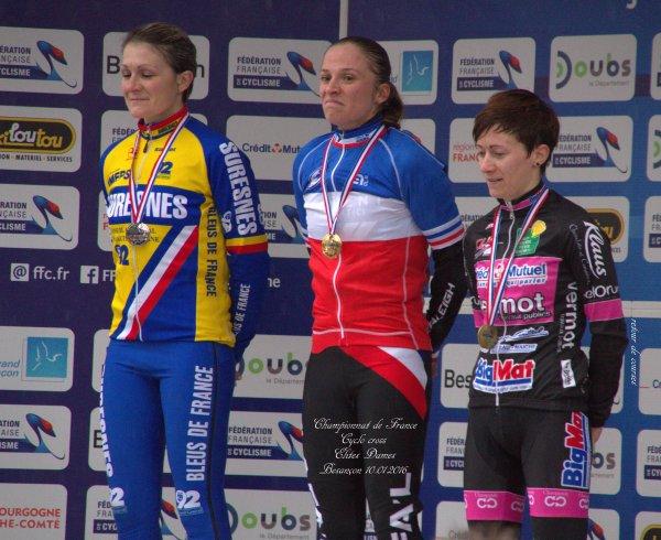 Championnat de France Cyclo cross Catégorie Elites Dames Besançon le 10.01.2016