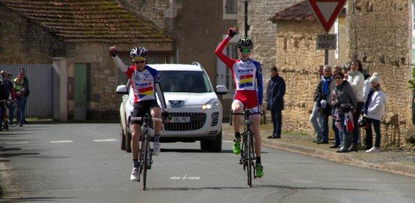 Saint Aubin la Plaine course Minimes 28.03.2016
