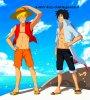 *Luffy le huitiéme hokage et Naruto le seigneur des pirates