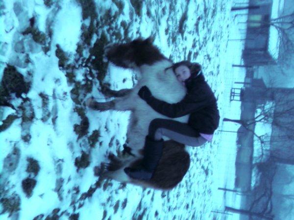 Chey et Coca dans la neige !!!