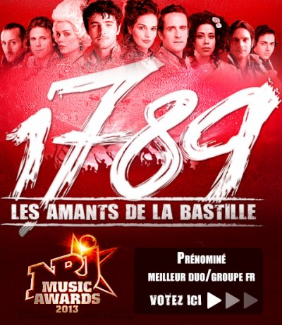 1789 PRENOMINE AUX NRJ MUSIC AWARDS
