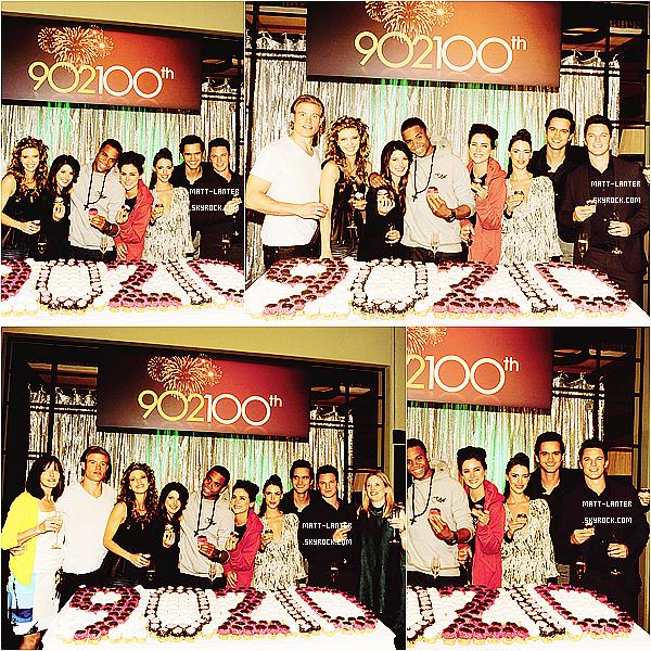 Le 27/09/2012 -  Matt était avec le reste du cast, dans les studios de la CW, afin de célébrer le 100ème épisodes la série  « 90210 »à Manhattan Beach en Californie. Déjà 100 épisodes ! Top : ✰✰✰✰✰