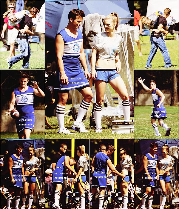 Le 26/09/2012 : Matt Lanter était sur le set de la saison 5 « 90210 ». cette épisode promet.