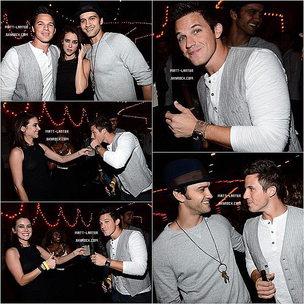Le 27/09/2012 -  D'autres photos de Matt, avec le reste du cast, dans les studios de la CW, afin de célébrer le 100ème épisodes la série  « 90210 »à Manhattan Beach en Californie. (  Article associé  ).Top : ✰✰✰✰✰