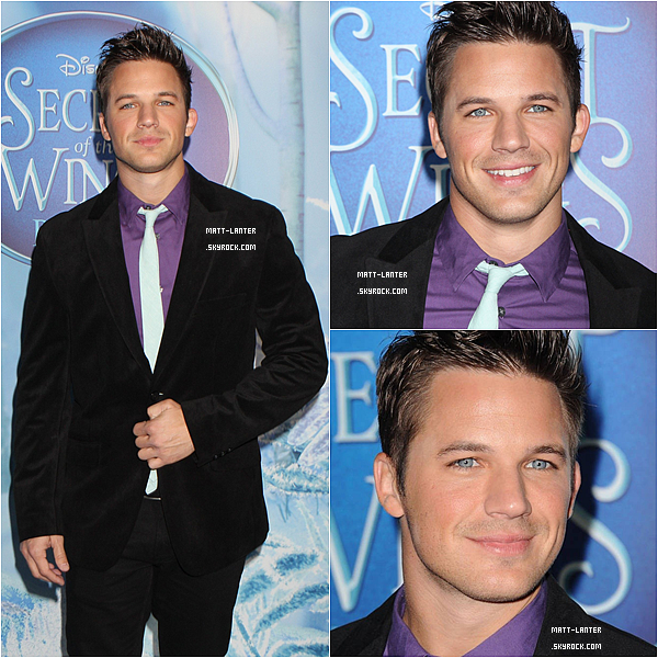 Le 20/10/2012 -  Matt, était à la grande avant première de « SECRET OF WINGS » à New York, en compagnie de sa fiancée Angela Stacy.         Top: ✰✰✰✰✰