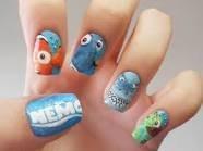 Nail art nemo