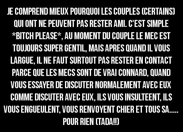 /!\ Attention les fillee en couples /!\