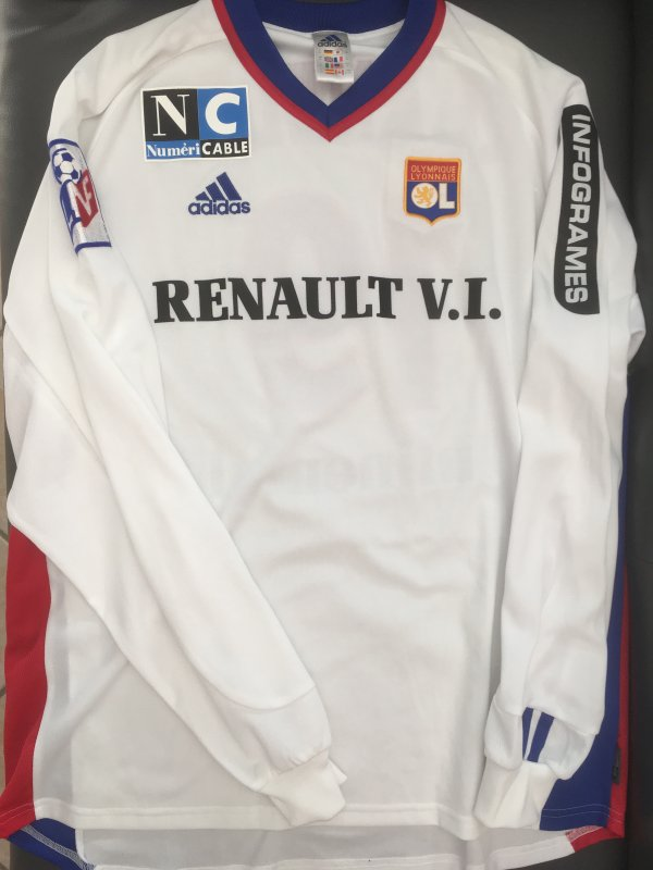 Maillot Home 2001/2002, Jean Marc Chanelet