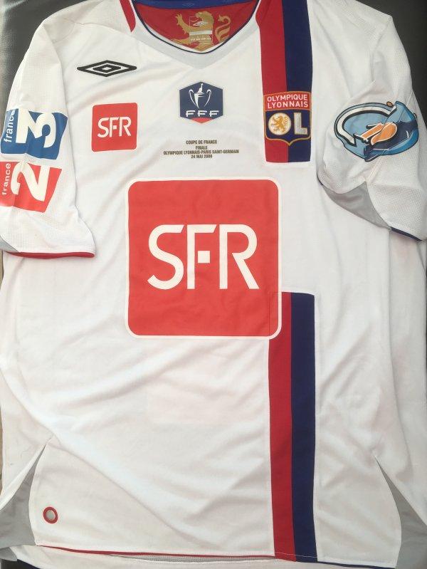 Maillot Finale Coupe de France 2007/2008, César Delgado