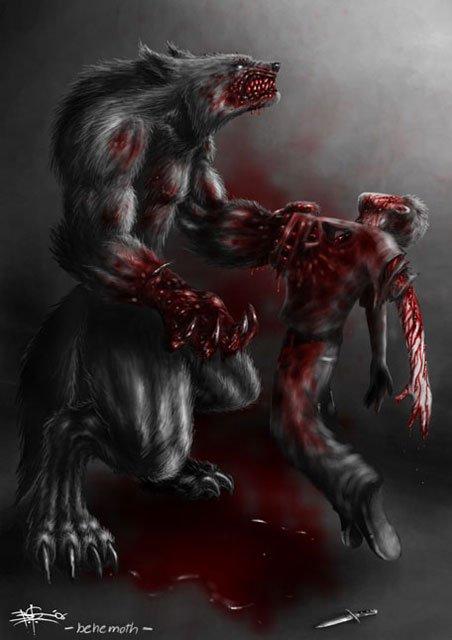 Animaux mythiques : Le volkodlak.