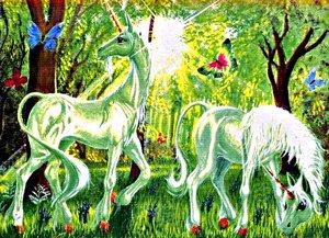 Animaux mythiques : La licorne de féérie.