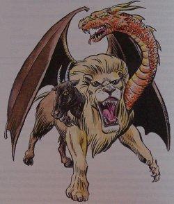 Animaux mythiques : La chimère et la chimère ailée.