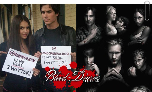 _  Les Twitter officiels des Acteurs de True Blood & Vampire Diaries  _