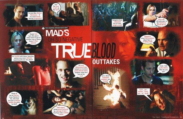 _  Scans du magasine Mad Magazine : Parodie True Blood   _