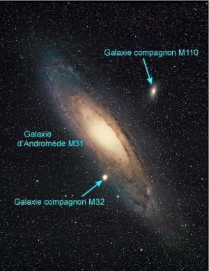 La galaxie d'Andromède et ses anneaux