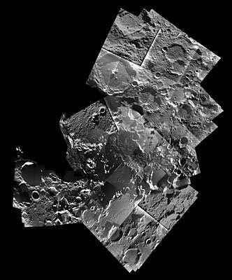Carte du pôle Nord lunaire