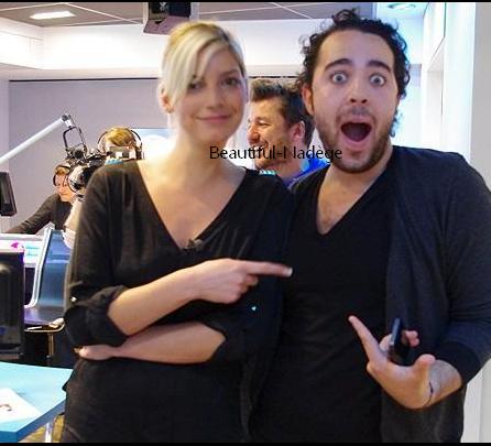 Nadège à Fun Radio et photo avec Adrien Lemaitre