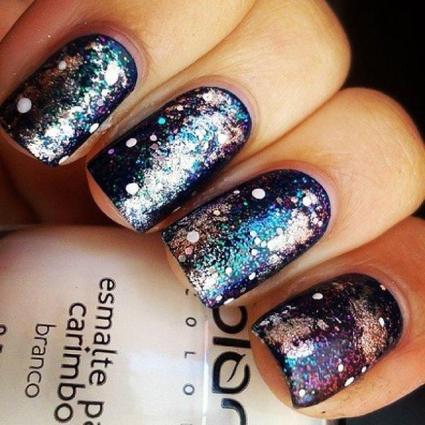 Les nail art galaxie <3