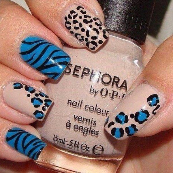 Nail art léopard