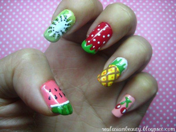 Nail art fruit <3