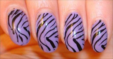 Nail art zebre <3