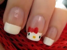 Nail art Hello Kitty <3