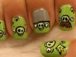 Nail art Angry Birds <3