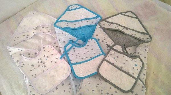 Les essuies capuches de la Collection Petites étoiles